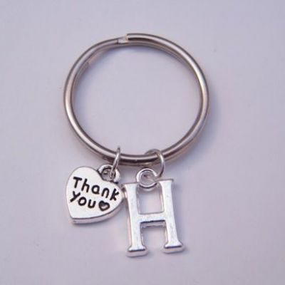 Thank You Initial Keyrings - Charm Style